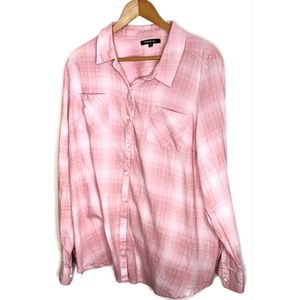 Pink Relativity Button down shirt size 3X